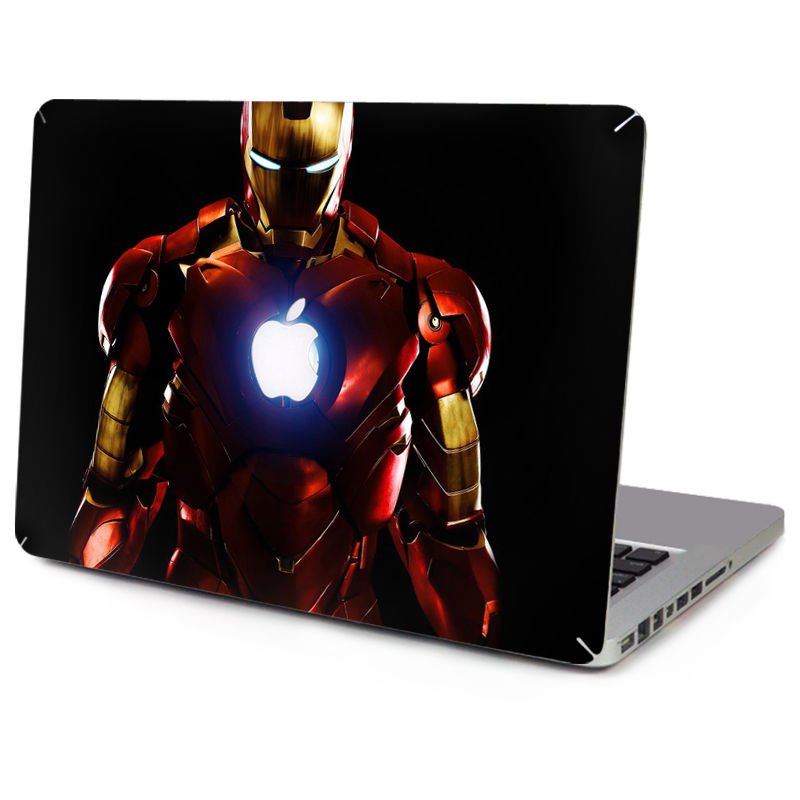 YCSTICKER-Laptop Sticker Üst Vinil Çıkartması Su Geçirmez Sticker Iron Man Cilt Macbook Air Retina Pro 11 12 13 15 için Çıkartması & Film