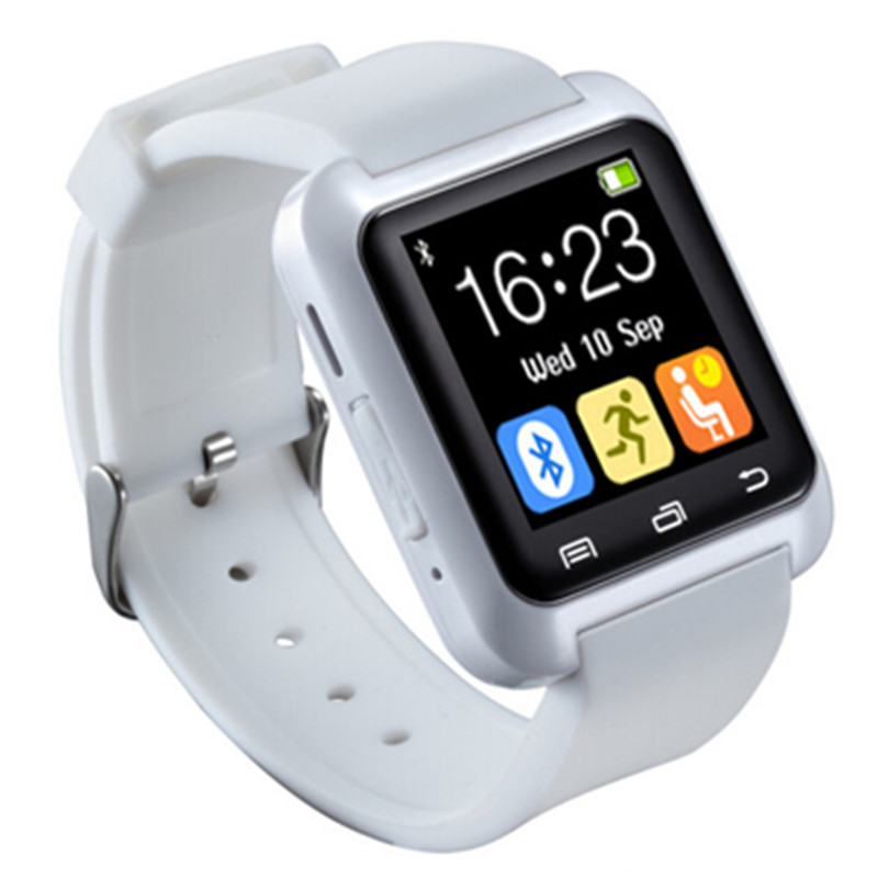 Bluetooth SmartWatch U80 bilek İzle spor iPhone 4/4 S/5/5 S Samsung S4/not 2/Not 3 HTC Android Telefon