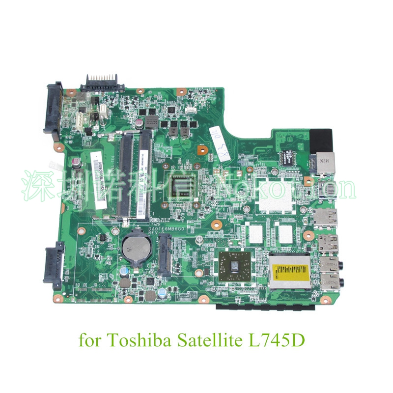 NOKOTION DA0TE6MB6G0 REV G A000093490 Için Toshiba Satellite L745 L745D laptop anakart EME350 CPU DDR3