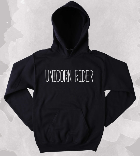 Unicorn lover kazak boynuzlu at rider sloganı clothing tumblr hoodie-z173